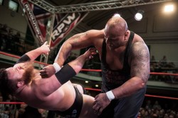 BOM: Bad Luck Fale drops Dave Mastiff with the Grenade at RPW's Summer Sizzler.