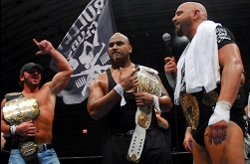 BULLET CLUB: Bad Luck Fale won the IWGP Intercontinental Championship at the Dominion event in Osaka. PHOTO: NJPW