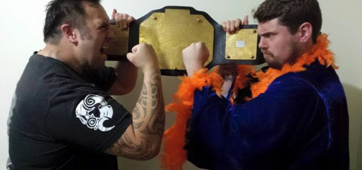 """READY TO RUMBLE: Ben Mana challenges """"Dream Catcher"""" Phil Woodgate for the NZWPW Championship tonight at Wairoa Warzone. PHOTO: NZWPW"""
