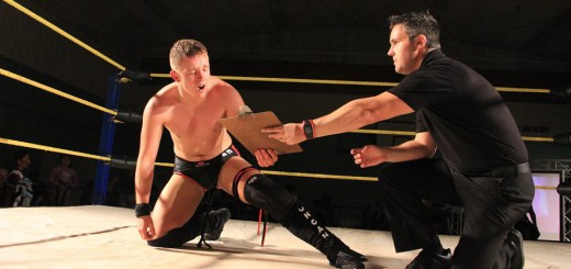 VICTORIOUS: Brook Duncan is awarded the 2016 Eliminator Contract, guaranteeing him an IPW Championship match. PHOTO: Three Count Productions/Impact Pro Wrestling