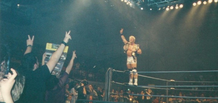 MAKING HISTORY: Jeff Jarrett celebrates after unifying the WWA and NWA World Heavyweight Championships. PHOTO: David Dunn