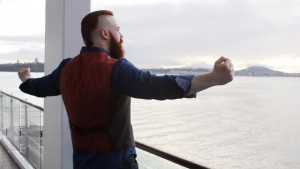SIGHTSEEING: Sheamus looks over the Auckland Harbour during his promotional tour of New Zealand. PHOTO: WWE