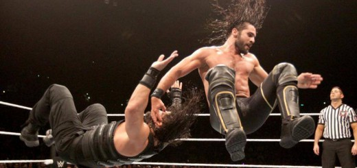 WRESTLEMANIA-QUALITY: Roman Reigns and Seth Rollins renewed their rivalry in Auckland. PHOTO: WWE