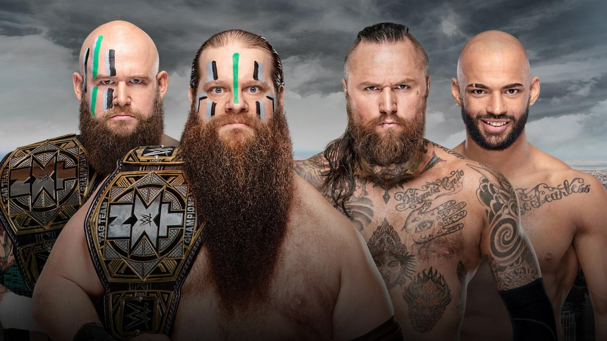 NXT Tag Team Championship: The War Raiders (c) vs. Aleister Black & Ricochet